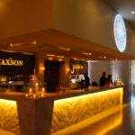 The bar counter of The Jaxson, representing event venues listed by The Event Glossary in New Orleans, LA